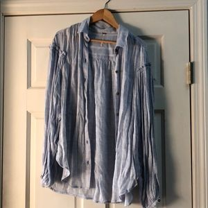 Free People- Lightweight Button-Down - Size Small